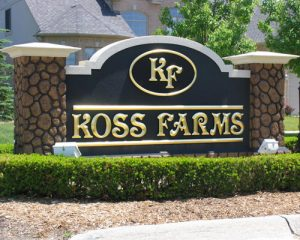 Ross Farms Monument Sign