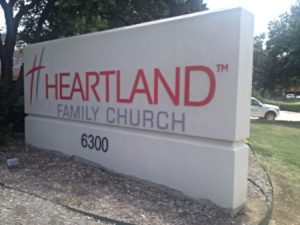 Heartland Chuch Custom Monument Sign
