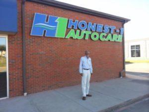 Honest 1 Storefront Sign Channel Letters