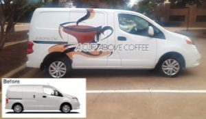 Commercial Van Wrap Before & After