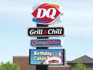 Irving Business Pole Signs Provide Ultimate Visibility 0092 Dairy Queen Bendsen Sign Graphics W 19mm 80x176 Bloomington IL 101718 1 300x225